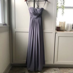 Bill Levkoff Formal Grey Strapless Gown